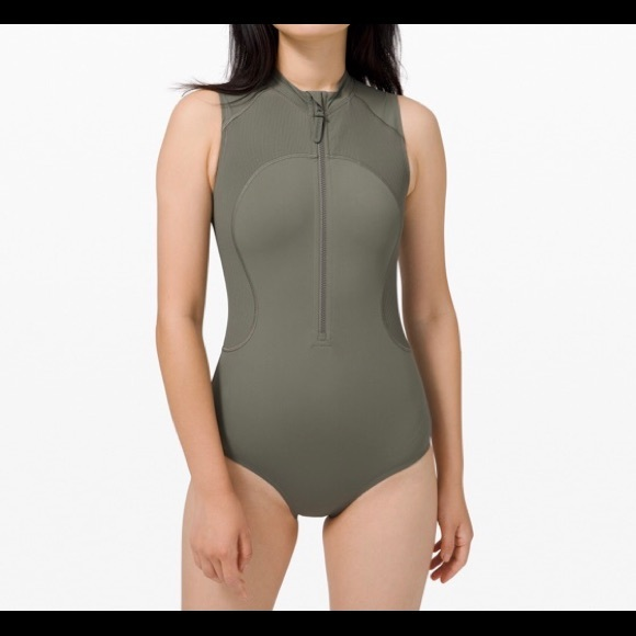 Lululemon zip up bathing suit